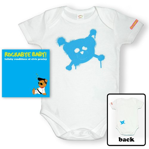 Price comparison product image Rockabye Baby! Lullaby Renditions of Elvis Presley +Organic Baby Bodysuit (Blue)