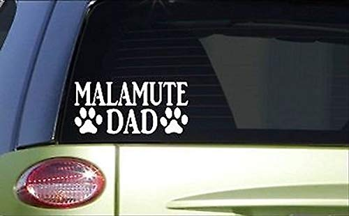 CELYCASY Malamute DadH835 8 Inch Sticker Decal Sled for sale  Delivered anywhere in USA