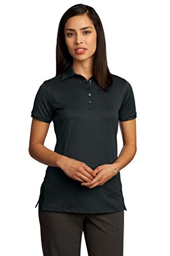 Red House Women's Ottoman Performance Polo L Black