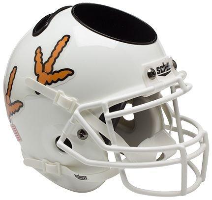 Schutt NCAA Virginia Tech Hokies Football Helmet Desk Caddy, White w/Fowl Feet Alt. 6