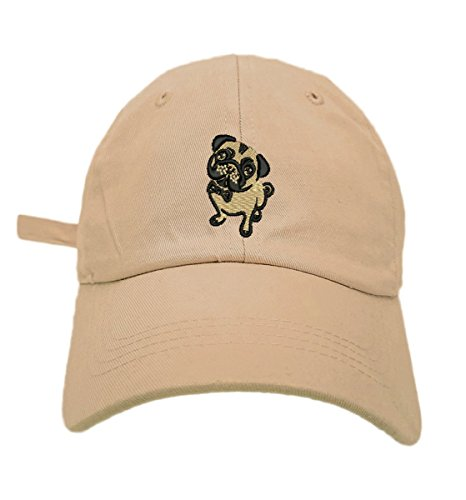 TheMonsta Pug Style Dad Hat Washed Cotton Polo Baseball Cap (Khaki)