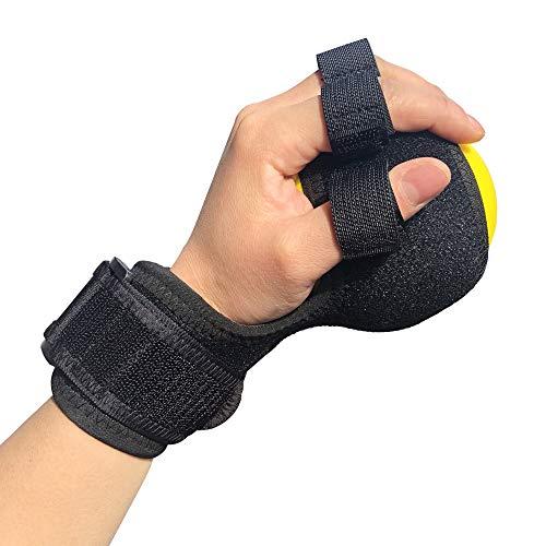 (Anti-Spasticity Ball Splint & Finger Posture Corrector for Stroke Hand, Functional Split-fingered Hand Wrist Support, Orthosis Rehabilitation For Impairment/Hemiplegia/Stiff)