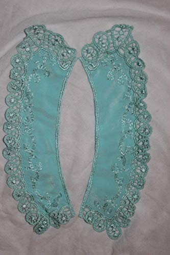 (1 Each Mint Seafoam Green Peter Pan Collar Sewing Embroidered d12)