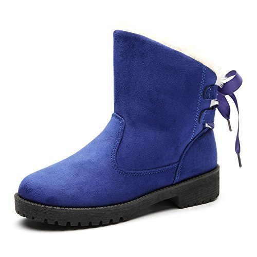 Botas de nieve botas de invierno plus size plus de terciopelo de algodón antideslizante SHOES, azul, 35 35|blue
