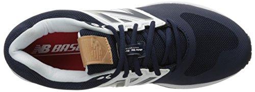 Nuovo Equilibrio Mens 3000v3 Baseball Turf Scarpe Navy / Bianco
