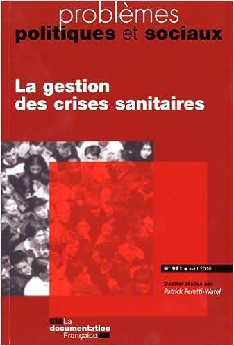 Book La gestion des crises sanitaires (N.971 - avril 2010)