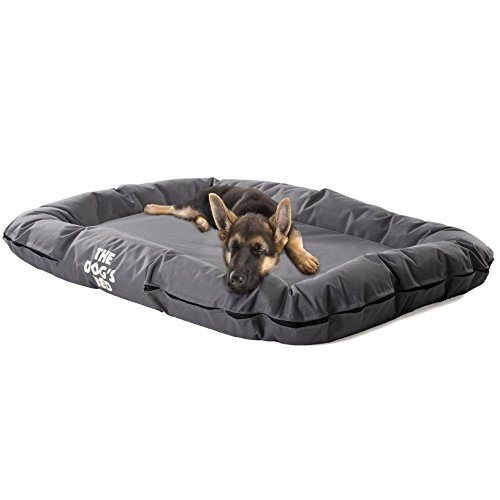 The Dog's Bed - Premium Waterproof Dog Puppy Beds - Many Colors - Sizes & Luxury Embroidered Designs - Finest Quality Durable Oxford Fabric - Washable Cover - Boarding Kennel Favorite:)