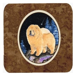 (Caroline's Treasures SS8454FC Starry Night Chow Chow Foam Coasters Set of 4 (Set of 4), 3.5