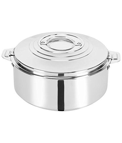 King International 100 % Stainless Steel Double Walled Insulated Casserole | Hot Pot 4000 ml | Keep Warm/Cold Upto 4-6 Hours KI-C-HPDWI-4000 ml