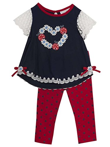 (Rare Editions Baby Girl Navy Ladybug Summer Set (12m-24m) (24 months))