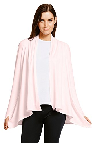 Solbari UPF 50+ Women's Sun Protection Luxe Sun Wrap - Large-X-Large - Light Pink - UV Protection, Sun Protective
