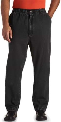 Harbor Bay Big & Tall Elastic-Waist Denim Jeans