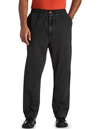 Harbor Bay Big & Tall Elastic-Waist Denim Jeans at Amazon Men's ...