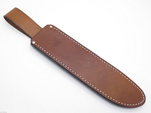 Benchmade USA Leather Sheath Only for 154BK Jungle Bolo Machete Bowie Fixed Blade Hunting Survival (12 3/4 Inch Survival Knife)