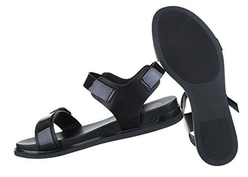 Damen Sandalen Schuhe Sommerschuhe Strandschuhe Bequeme Schwarz 36 37 38 39 40 41 Schwarz