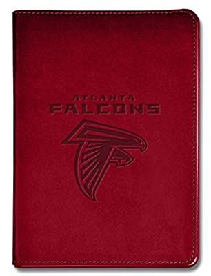 """National Design NFL Atlanta Falcons Executive Journal - 5 1/2"""" x 8"""" - Red - 100 Pages (14313-NFL-QUB-R)"""