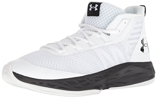 Under Armour Men's Jet Mid Basketball Shoe, White (100)/Black, 10