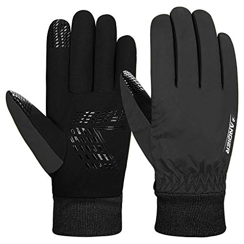 Lapulas Gloves for Men Gloves Winter Womens Running Gloves Waterproof Thermal Snow Gloves Anti-Slip Cycling Gloves for Driving Hiking, Outdoor Activities