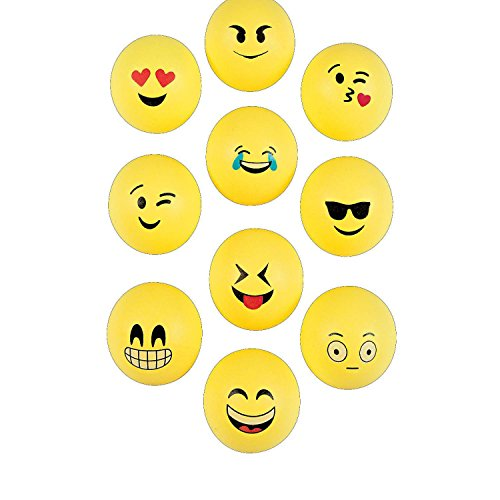 Bulk Vending Machine Emoji Table Tennis Balls - 2 (With Sticky - Ping Pong Unit Table
