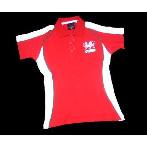 Wales Welsh 'Fashion-Fit' Ladies Rugby Shirt (16/18)