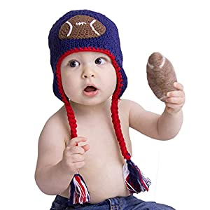 Huggalugs Baby and Toddler Child's Sports Knit Football, Baseball, Basketball, Soccer Beanie Hat