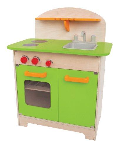 Hape  Gourmet Kitchen Kid's Wooden Play Kitchen in Green