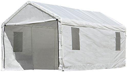 - ShelterLogic MaxAP Clearview Enclosure Kit with Windows, 10 x 20 ft. (Frame and Canopy Sold Separately)