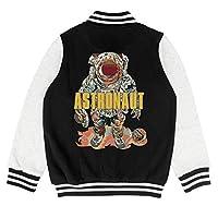 epoyseretrtgty Autumn Kids Boys Uniform Astronaut Space Robot Personality Baseball Jacket Overcoat