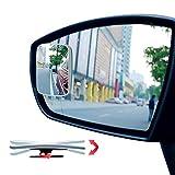 Ampper Rectangular Blind Spot Mirror, HD Glass