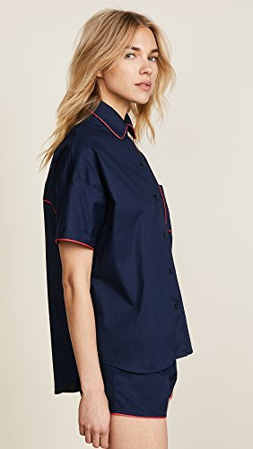 Maison du Soir Women's Jackson PJ Top, Navy, Medium by Maison Du Soir (Image #4)