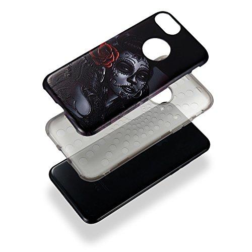 """Hülle iPhone 7 Plus / 8 Plus , LH Gelockt Mädchen Combo TPU Weich Muschel Tasche Schutzhülle Silikon Handyhülle Schale Cover Case Gehäuse für Apple iPhone 7 Plus / 8 Plus 5.5"""""""