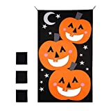 Vankcp Halloween Bean Bag, Pumpkin Bean Bag Toss Games with 3 Bean Bags Party Games for Kids Halloween Home Party Creative Decoration