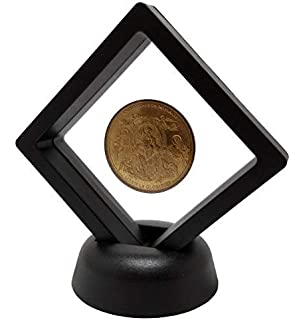 Okdeals Floating Suspended Display Case Coins Gems Artefacts Jewellery Stand Holder Box Pack of 2