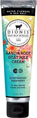 Dionis Hand & Body Cream 3.3 oz, Water Flowers & Sea Salt