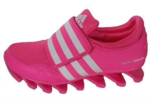 Rendimiento poco Kid Springblade Running amortiguación Trail Road Racer Jogging Running Zapatillas calzado zapatillas zapatos de competencia, Niños, rosa y blanco, UK1.5=EUR32=21CM