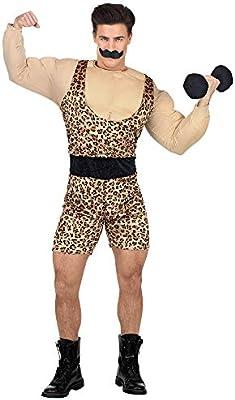 WIDMANN Disfraz de Hombre Fuerte, Color Beige, M/L (02543): Amazon ...