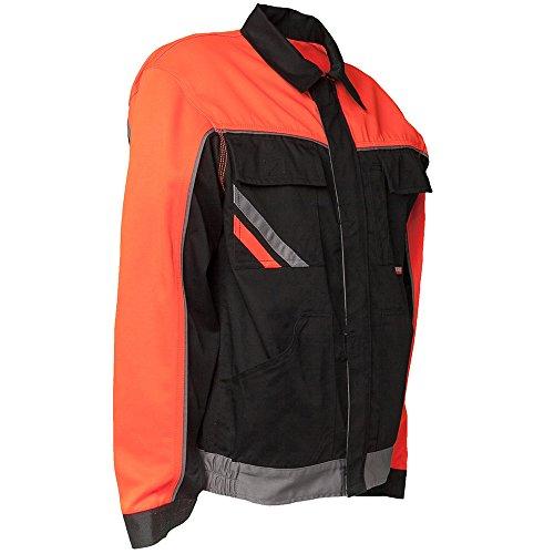 Planam 2411048 Visline V1 Blouson de travail Taille 48 en Noir/Orange/Zinc