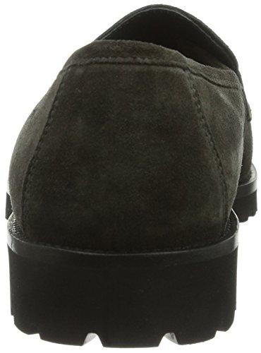 Sioux 55760 - Zapatillas de casa de cuero mujer gris - Grau (asphalt)