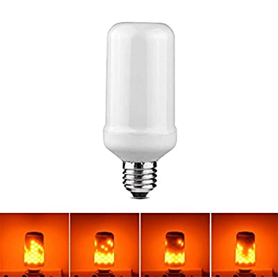 JKLcom Flame LED Bulbs1Pack, E26/E27 LED Animated Flickering Fire Effect Atmosphere Decorative Light
