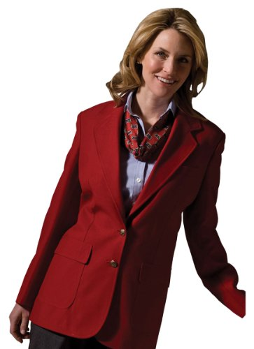 Ed Garments Women's Two Button Single Breasted Blazer, RED, 2
