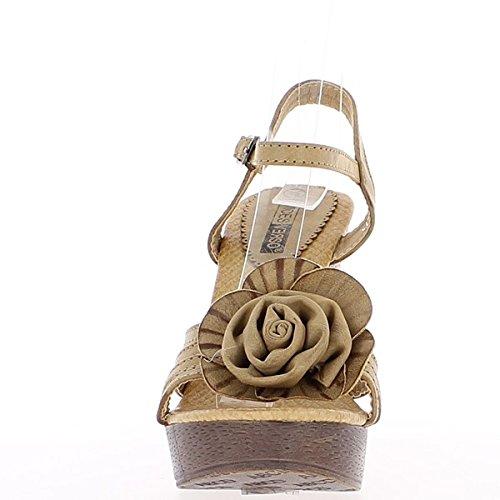 Wedge Fleur Sandales Femme Moles Talon 12cm