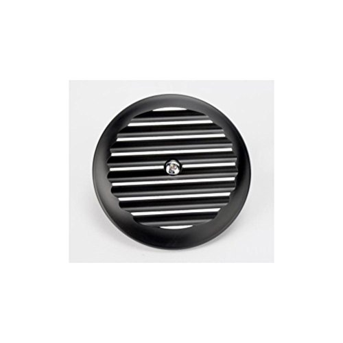 Joker MacHine Insert for Round Air Cleaner Finned Black H-D Twin Cam 1999-2012
