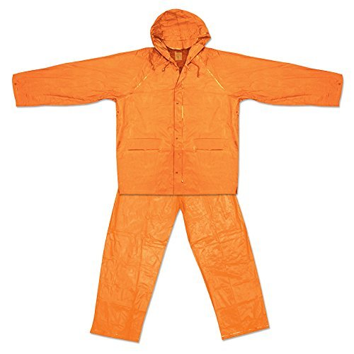 UST Youth All-Weather Waterproof PVC Rain Suit, Orange, L/XL