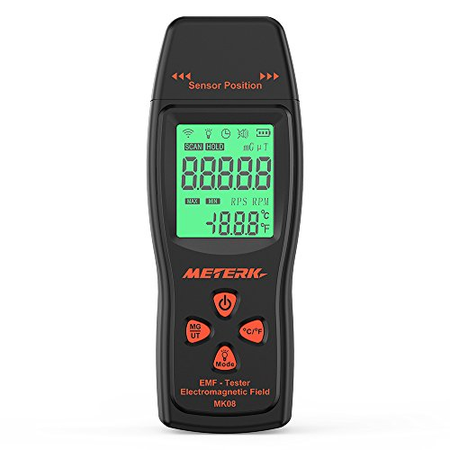 EMF Meter,Meterk Electromagnetic Field Radiation Detector Handheld Mini...