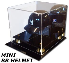 BCW Acrylic Mini Baseball Helmet Display With Mirror