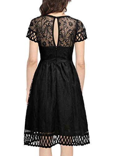 May 26th Suit Up Swing Style: Women's 1920s Flare Lace Retro Evening Party Swing Dress