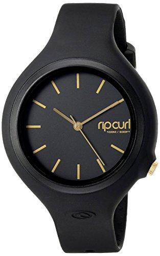 Rip Curl Women s Aurora Quartz Plastic and Polyurethane Sport Watch, Color Black Model A2696G-GOL