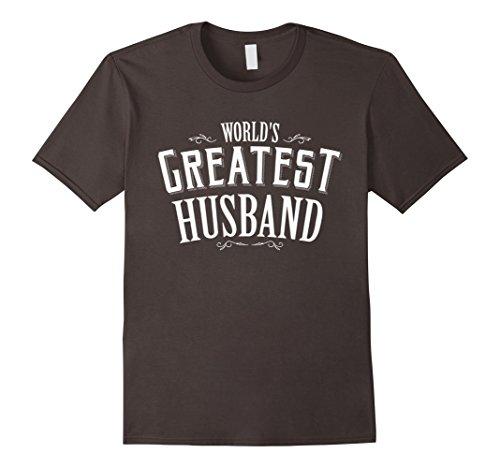 [Men's World's Greatest Husband T-shirt romantic Mr tee for him XL Asphalt] (Greatest Halloween Costumes Ever)