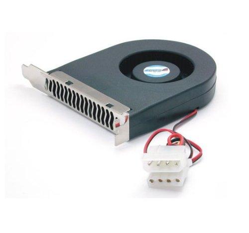 StarTech.com Expansion Slot Rear Exhaust Cooling Fan with LP4 Connector FANCASE (Black)