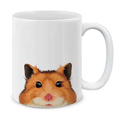 (MUGBREW Cute Animal Brown Hamster Ceramic Coffee Gift Mug Tea Cup, 11 OZ)